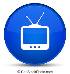TV icon special blue round button