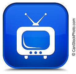 TV icon special blue square button