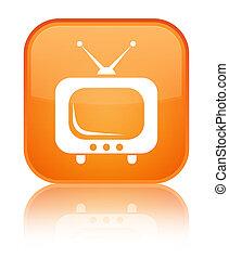TV icon special orange square button
