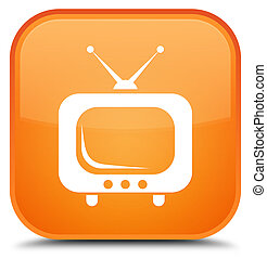 TV icon special orange square button