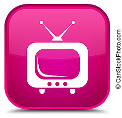 TV icon special pink square button