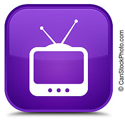 TV icon special purple square button