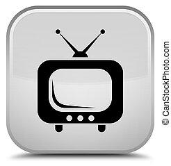 TV icon special white square button