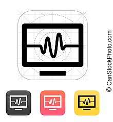 tv, icon., vecteur, illustration., signal