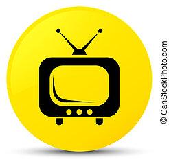 TV icon yellow round button