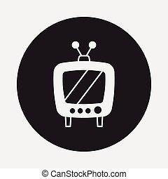 tv, ikon