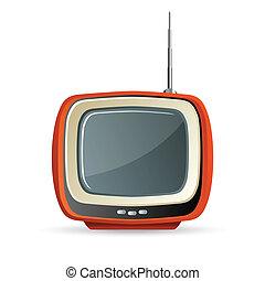 tv - illustration of tv on white background