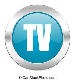 tv internet blue icon