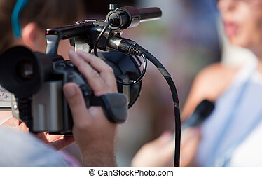 tv interview - Video camera for news TV broadcasting