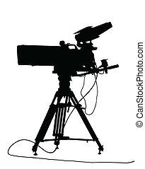 tv, isolamento, câmera