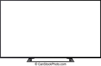 TV isolated with empty screen