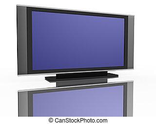 tv, lägenhet, lcd uppvisar, liquid-crystal
