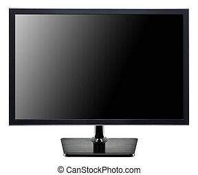 tv, lägenheten avskärmar, vit, isolerat