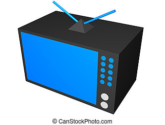 tv, lar, arte, dispositivo, clip