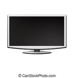 tv, lcd, övervaka