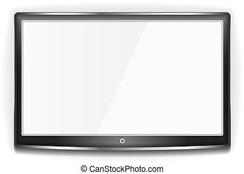 tv, lcd, 黒, スクリーン
