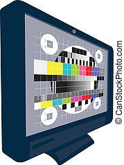tv, lcd, ensemble, télévision plasma
