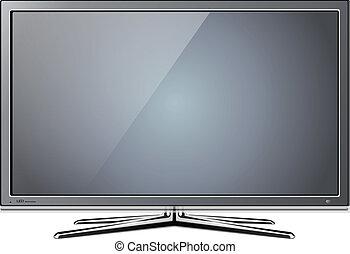 tv lcd - Modern TV lcd, led - vector illustration.