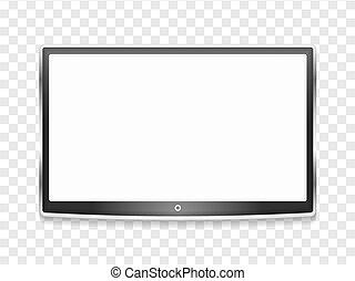tv, lcd, moderne