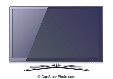 tv, lcd, realisti, tela plasma, apartamento