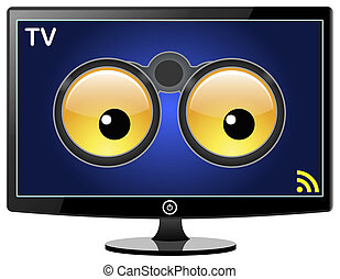 tv, lei, far male, osservare
