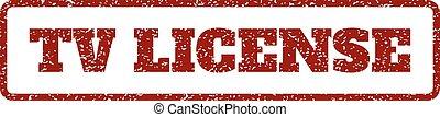 TV License Rubber Stamp