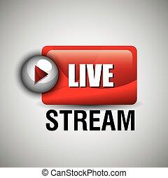 TV live stream graphic design, vector illustration eps10
