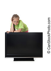 tv, lsd, 女の子, 顔つき