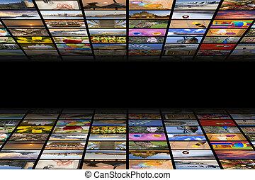 tv, mídia, conceito
