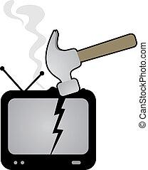 tv, martelo