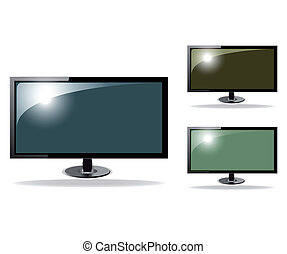 tv, mignon, vecteur, hd, illustration