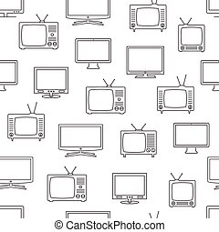 tv, modèle, seamless
