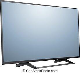 tv, moderne, 3d