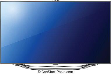 tv, moderne, mené