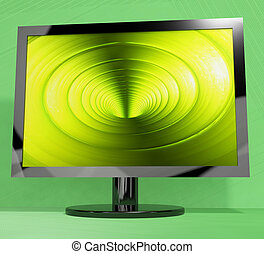TV Monitor With Vortex Picture Representing High Definition Television Or HDTVs
