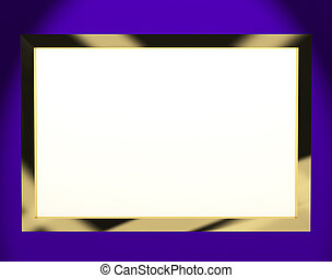TV Monitor With White Copyspace Or Copy Space