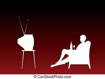 tv, montre