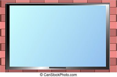 mur menu cadre brique restaurant tre ou utilis. Black Bedroom Furniture Sets. Home Design Ideas