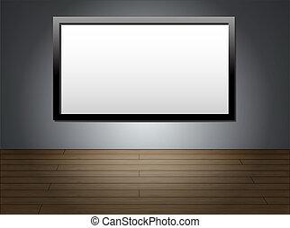 tv, mur