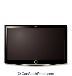 tv, muur, lcd, hangen