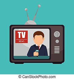 tv news anchorman broadcast graphic vector illustration eps...