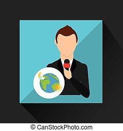 tv news weather reporter globe