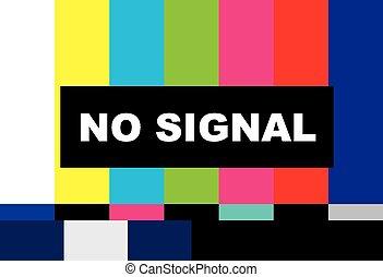 No signal tv test vector  lcd monitor  flat screen tv