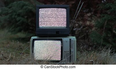 TV no signal in grass - White noise on two analogue TV sets...