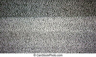 TV Noise - Static noise of flickering detuned TV screen