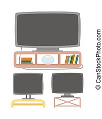 tv, o, tubazione, vettore, fili, apparecchiatura, plasma
