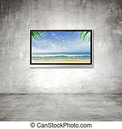 tv, oceano