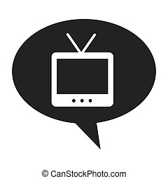tv old retro isolated icon
