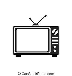 tv old television retro icon vector graphic