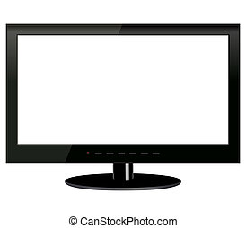 TV on a white background